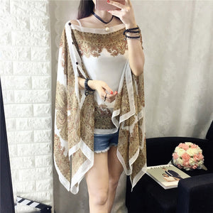 Fashion Floral Chiffon Blouses Women