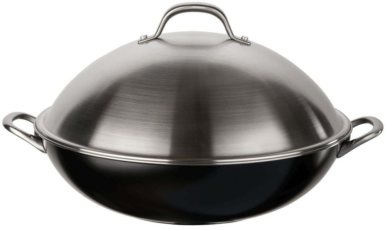 An image of Circulon Ultimum High Density Forged 36cm Wok - Cast Fittings