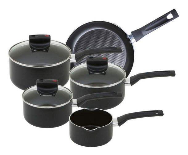 Prestige Safecook 5 Piece Aluminium Cookware Set - Black