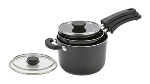 Prestige Kitchen Hacks 3pc Set - 16/18/20cm Saucepans