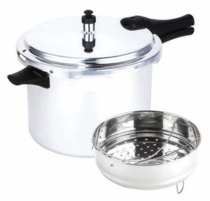 Prestige 8l Aluminum Pressure Cooker 12 Psi With Accessories