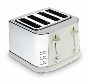 Stainless Steel 4 Slice Toaster - Almond