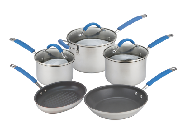 Joe Wicks Quick & Even Stainless Steel 5 Piece Pan Set