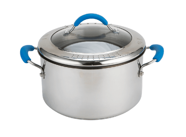 Joe Wicks Quick & Even Stainless Steel Stockpot with Straining Lid