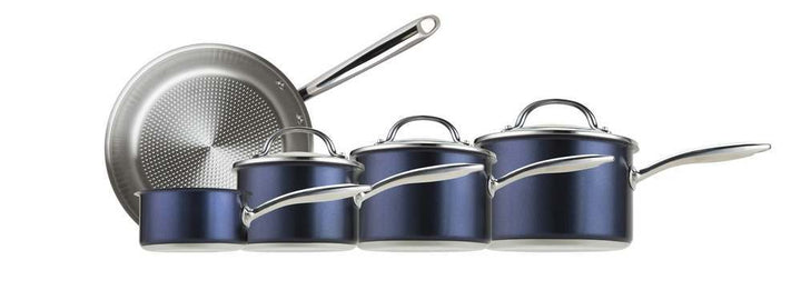 Prestige OptiSteel 5 Piece Stainless Steel Pan Set