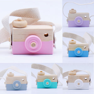 Kids Cute Kawaii Wooden Camera Mini Baby Camera Toy for Children Kids Birthday Christmas Gift Photography Props Home Decoration