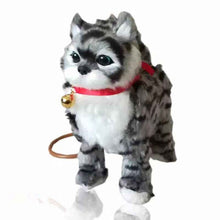 Load image into Gallery viewer, 1Pcs Robot Cat Electronic Cat Toy Electronic Plush Pet Toy Singing Walking Mew Leash Kitten Toys For Children Birthday Gifts