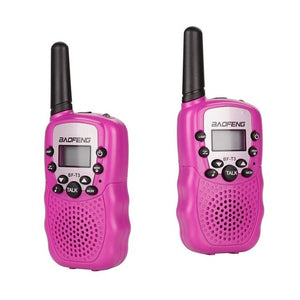 Baofeng T3 Children Walkie Talkies Mini Two-Way Radios Boys and Girls Uhf 462 - 467 Mhz Frquency 22 Channels - 1 Pair