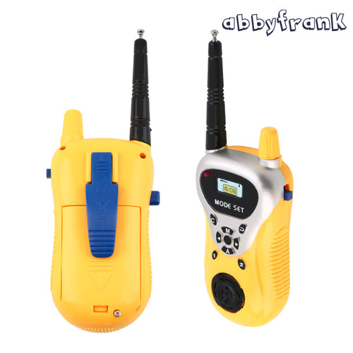 Abbyfrank 2Pcs Electronic Talking Walkie Talkie Phone Toy Spy Gadget Interphone Intercom Toy Kids Spy Kit Portable Two-way