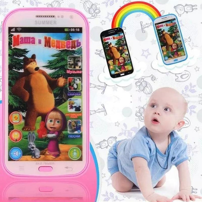 English/ Russian Song Baby Phone Toy Simulator Music Phone Screen Children Electronic Learning Toy
