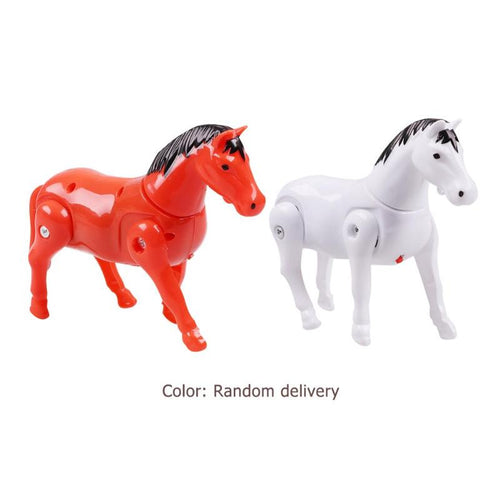 Plastic Electric Rotating Horse Toy Set Kids Walking Around Pile Horse Children Electronic Rotate Walking Animals Toys Baby Gift