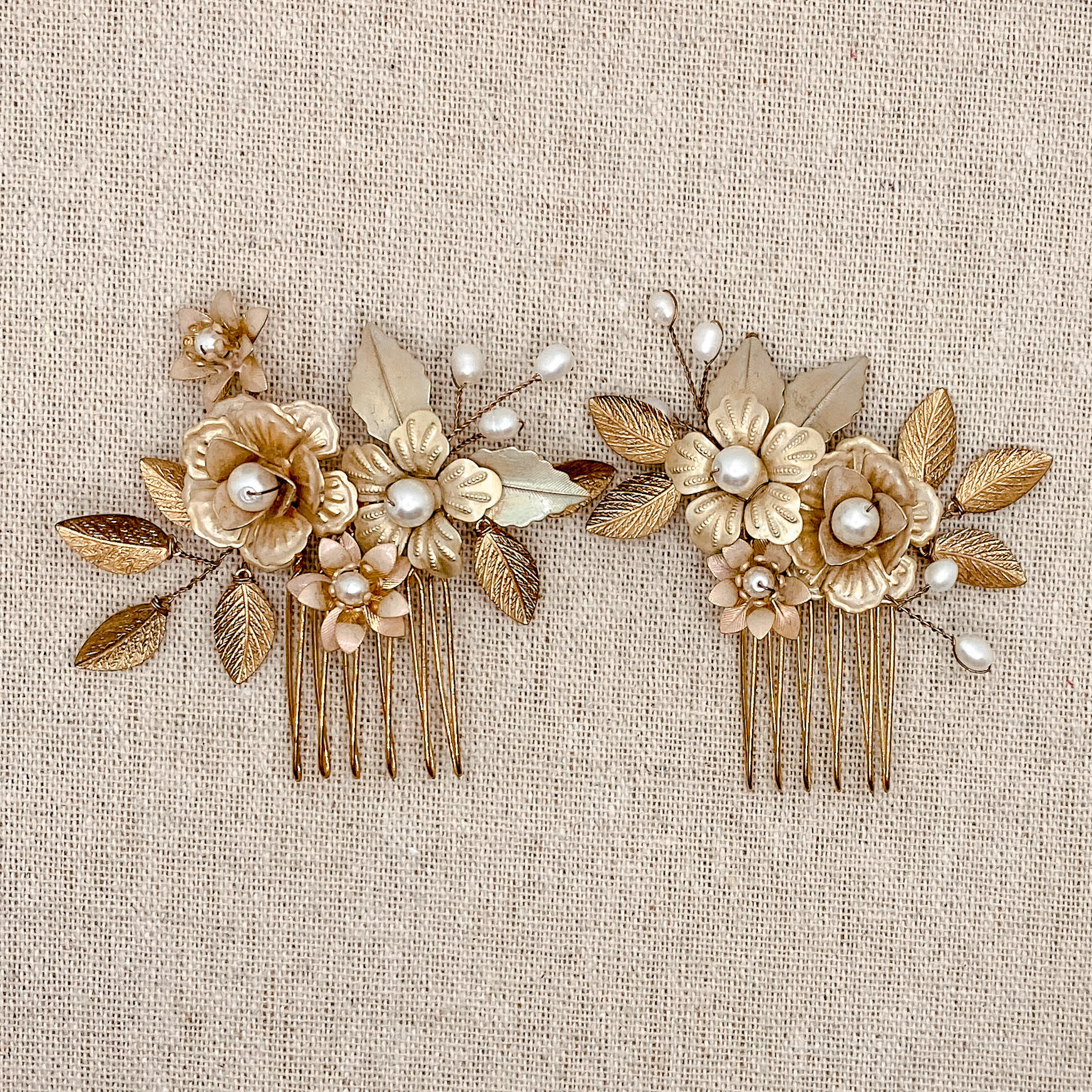 Marilyn Hair Comb Set Gold