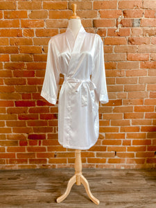 Satin Robe White S/M