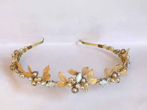 T7044 Gold/Opal Hairband