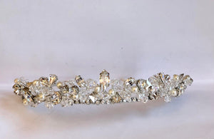 T9056 Silver/Crystal Hairband