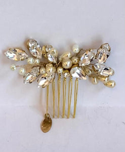 HN15C Crystal Drop Bridal Comb