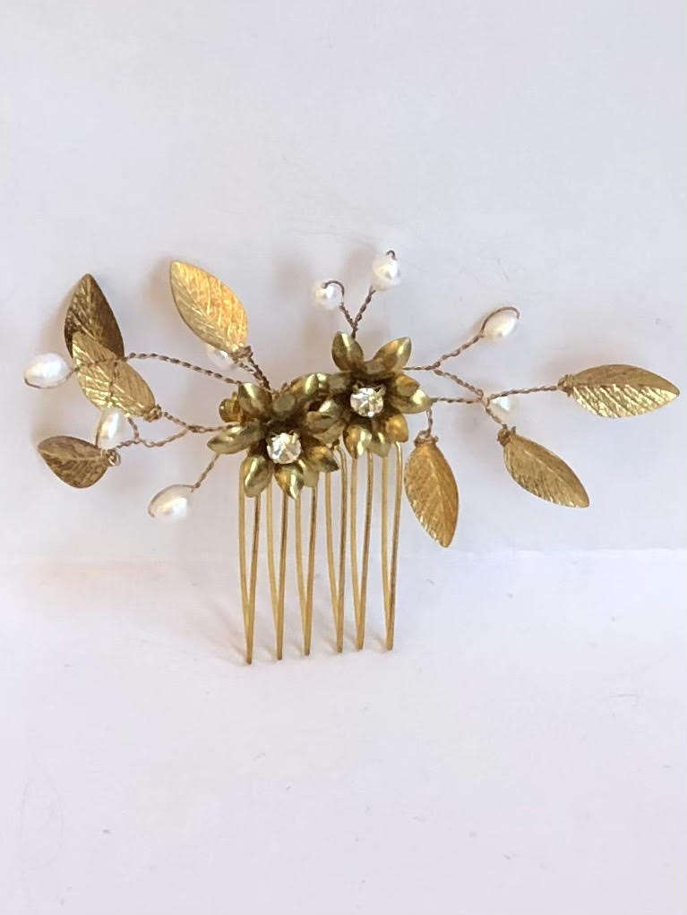 Indra Hair Comb Gold