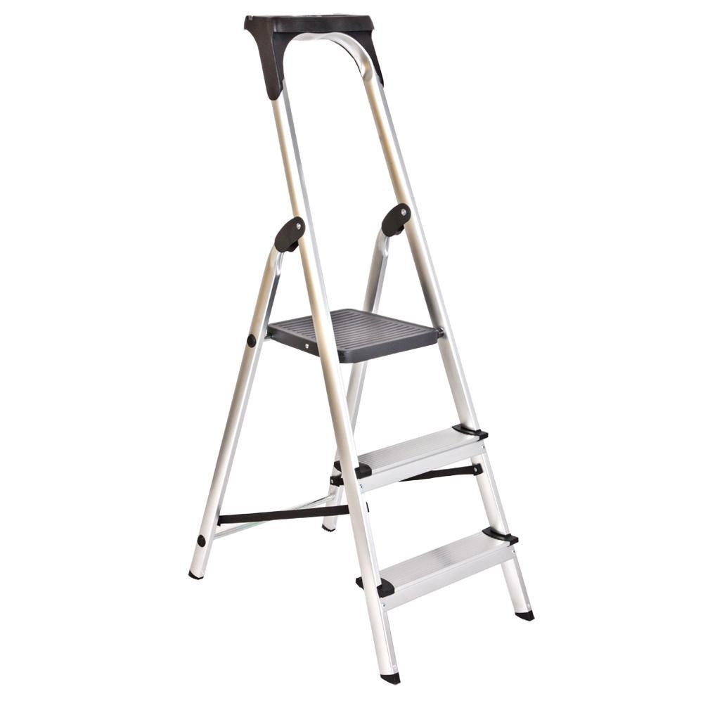 Step Upgrade Aluminium Ladder with Upper Tool kit