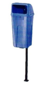 Plastic Dustbin Steel Pole 3.5ft pole