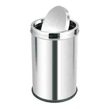 Stainless steel color coded bin steel with swing Lid or 2 Hole LId
