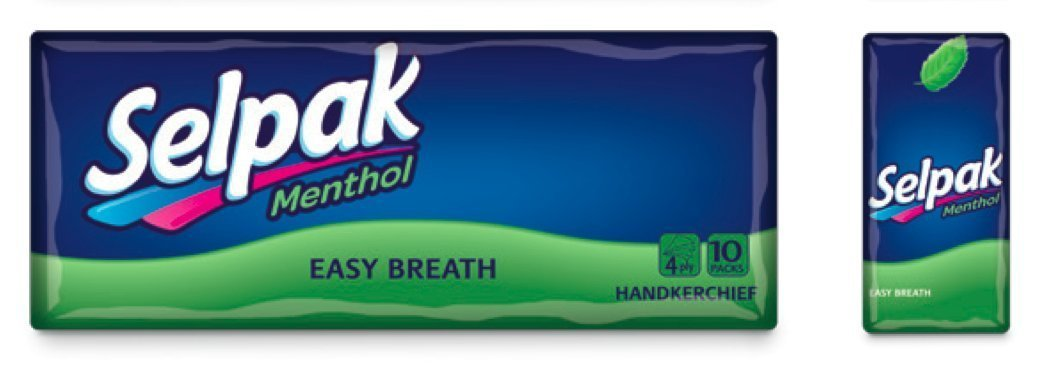 Selpak Menthol Perfumed Hanky 4 PLY (Pack of 5)