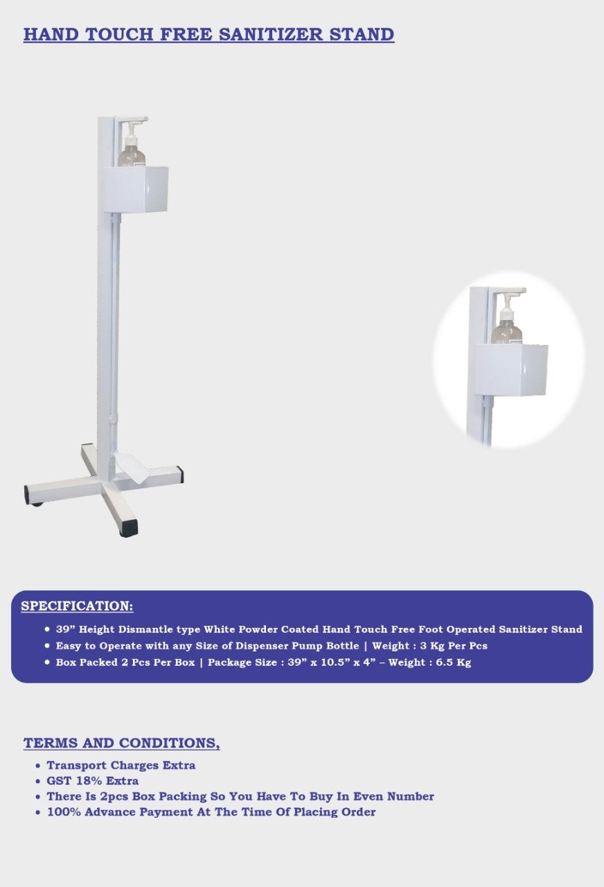 Hands free Sanitizer Dispenser with Stand