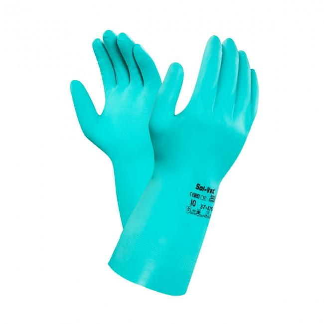 Ansell Solvex Nitrile Gloves 676 9 (PACK OF 5)
