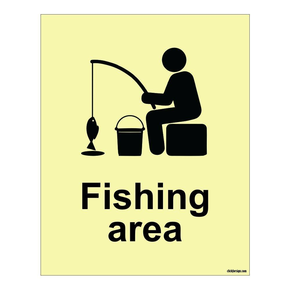 Aluminium Fishing Area Aqua Safety Sign Board