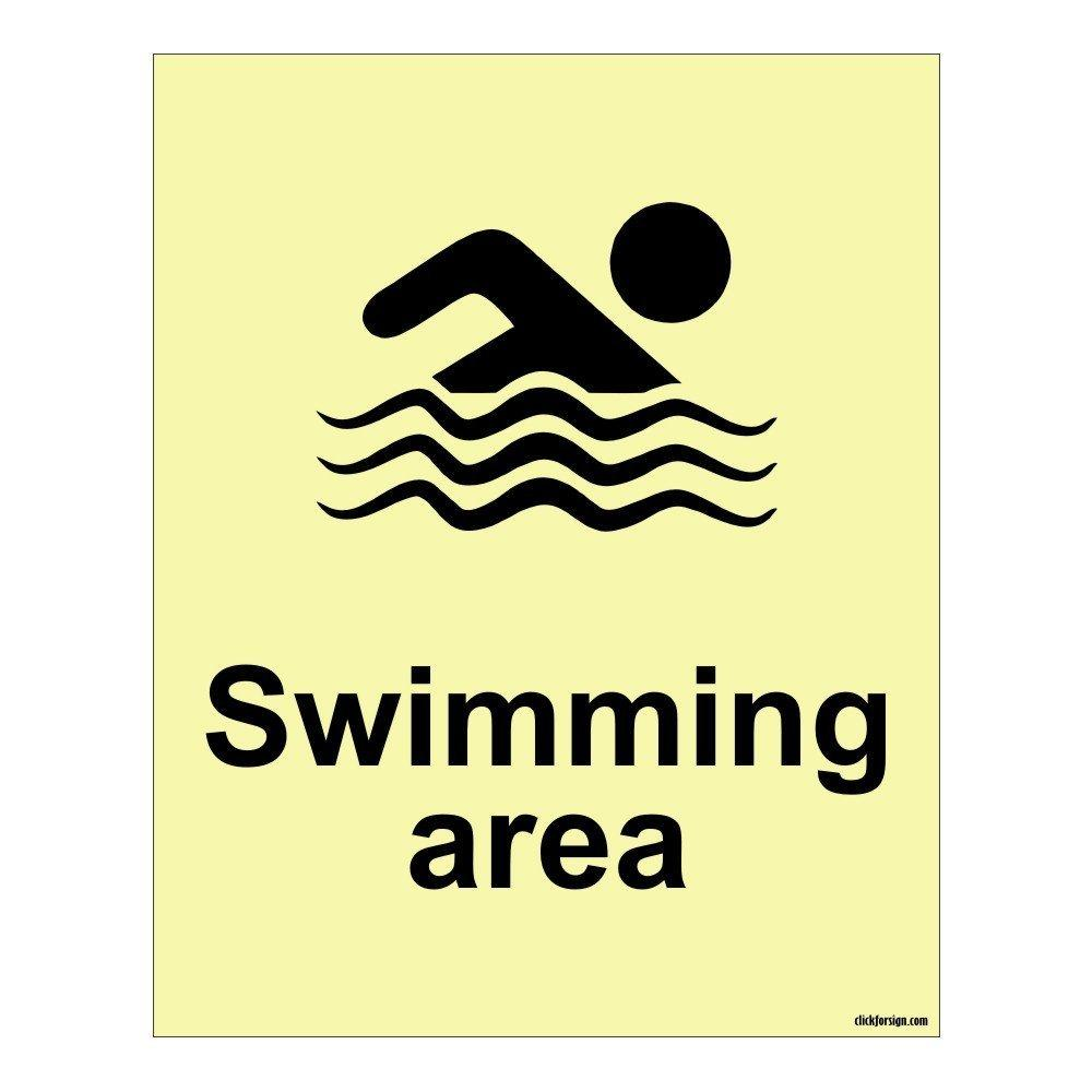 Aluminium Swimming Area Aqua Safety Sign Board