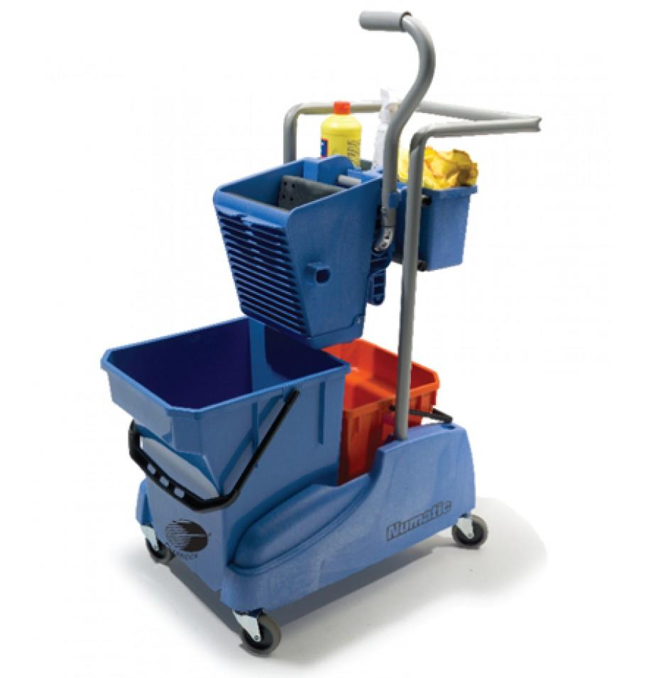 Double Bucket Mop Wringer with Caddy