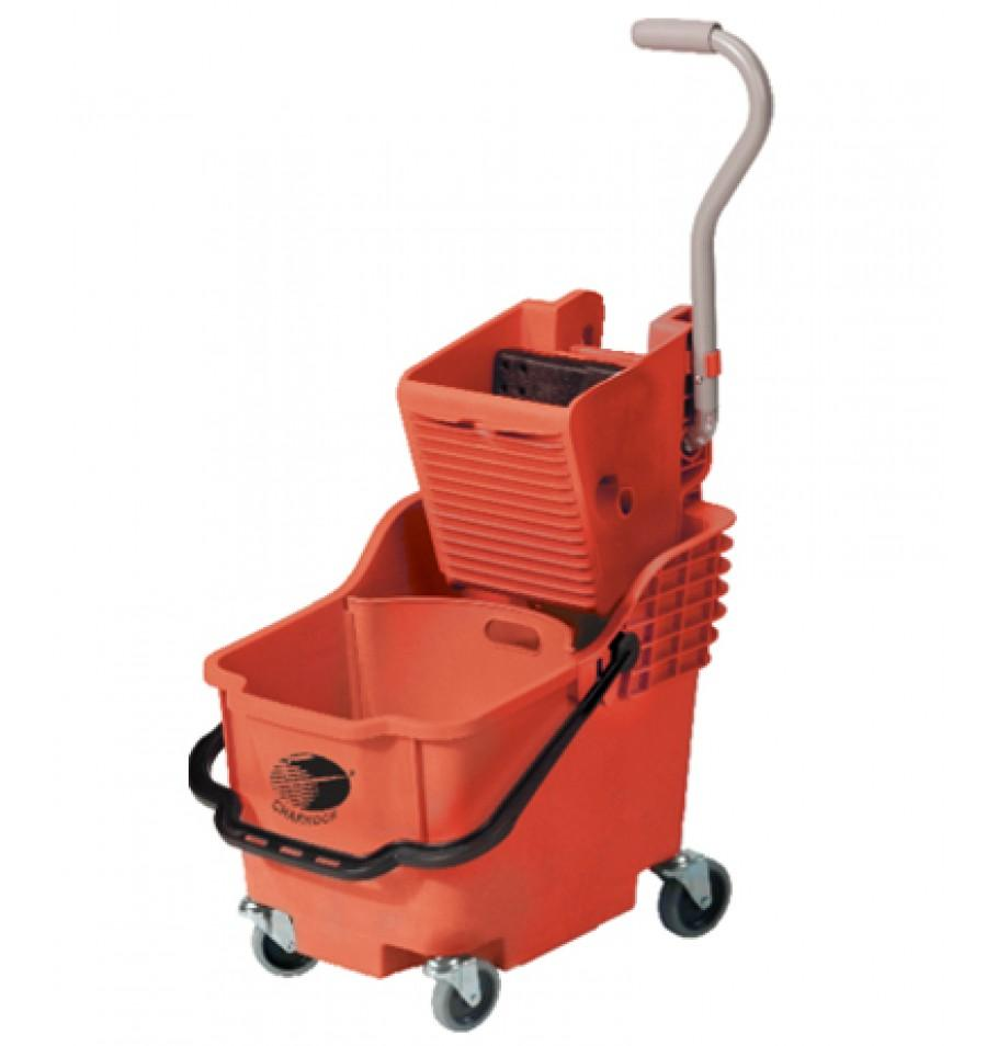 Single Bucket with partition Mop Wringer Trolley