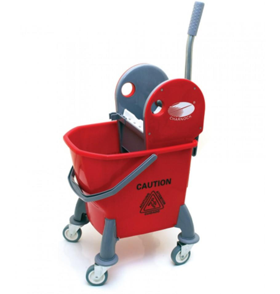 Single Bucket without partition Mop Wringer Trolley