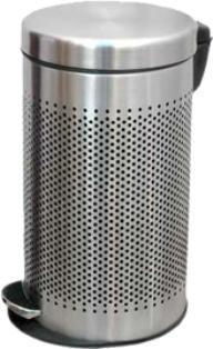 Stainless steel perforated pedal bin