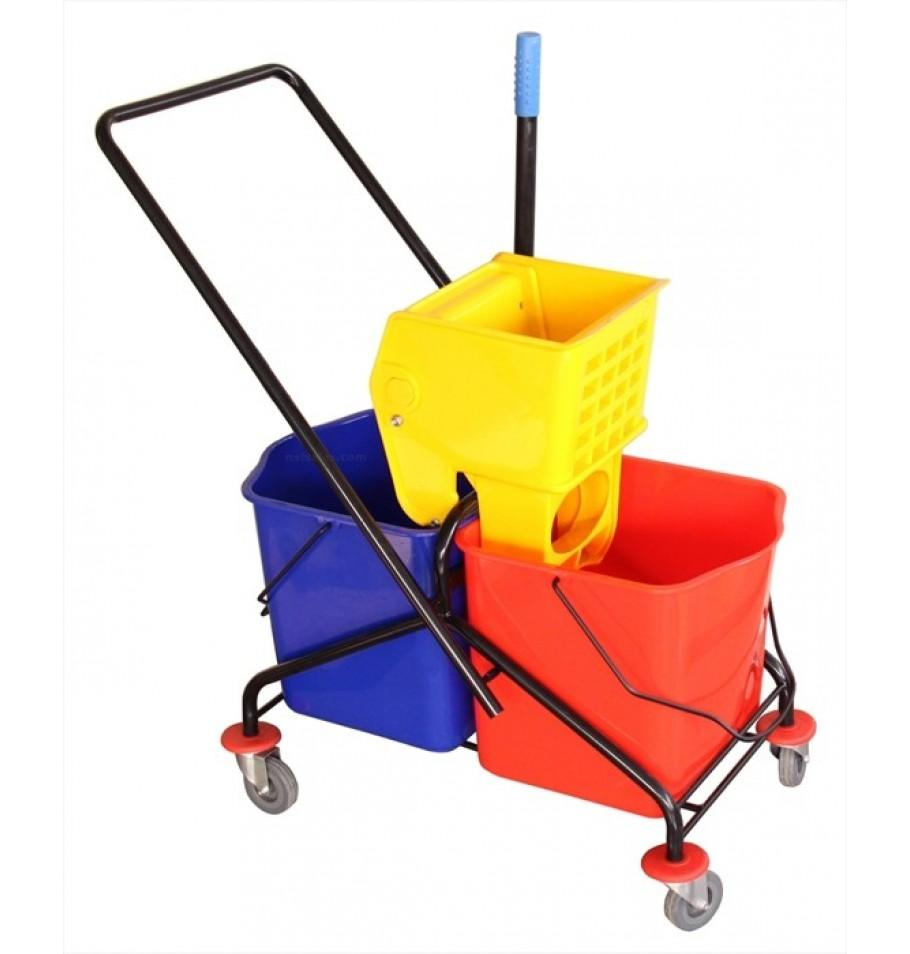 Double Mop Wringer Trolley Metal Frame