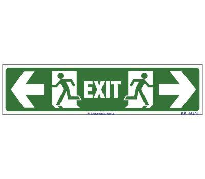 Emergency Exit Sign Laminated Board