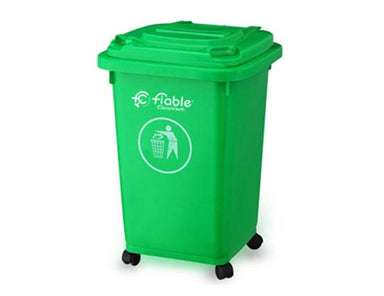Plastic Four Wheel with Lid Dustbin 50L