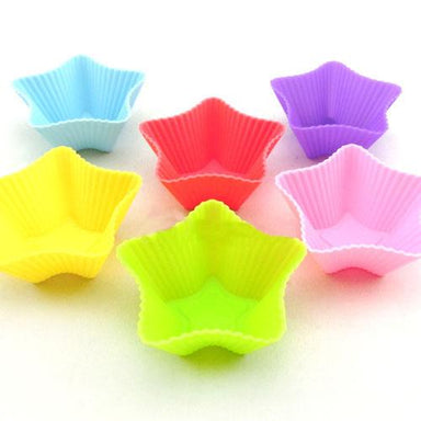 silicone Cake Muffin Mould Flower Shape Mould Muffin 12pcs