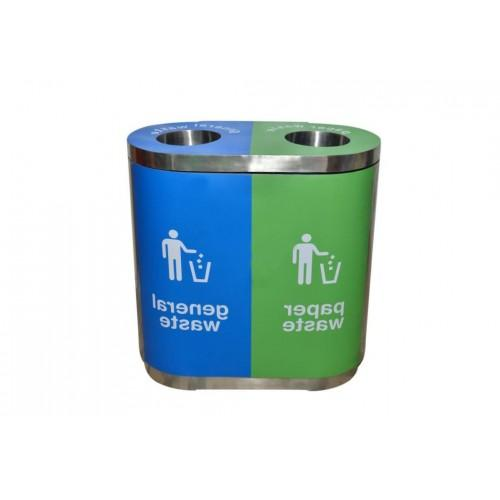 Color Coded Bin Stainless Steel Duo 40Ltr