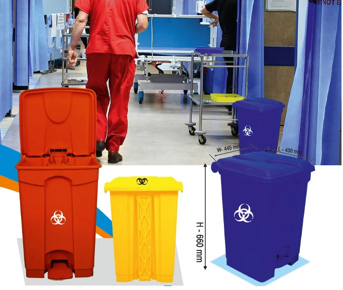 Handsfree pedalbin for Covid waste (60 liter)