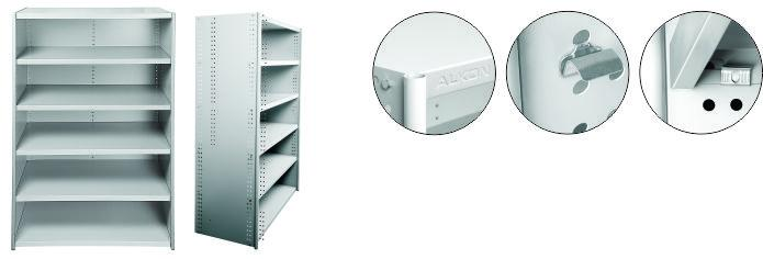 Shelving systems for Warehouse Bins without Doors-Light grey