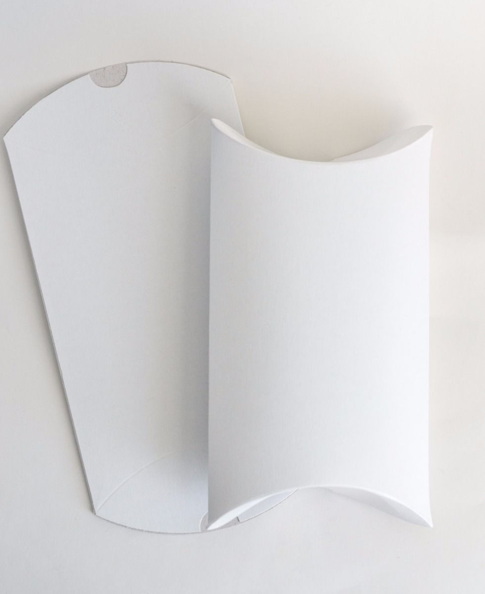 300 GSM White Paper Pillow Box