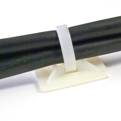 Adhesive backed tie mounts