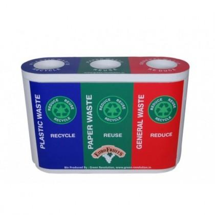 RECYCLE BIN TRIO Plastic Inner Bucket without Swing