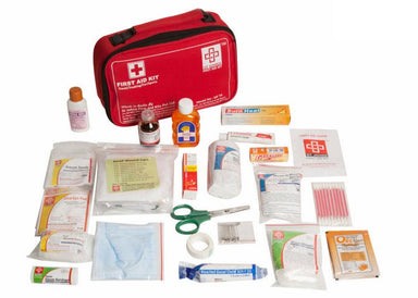 First Aid Travel Kit Large- Nylon Pouch- 77 components
