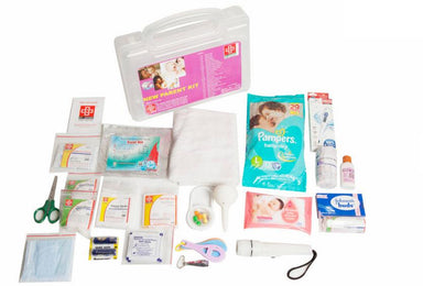 First Aid New Parent Kit- Plastic Box Medium Handy- Transparent- 62 componenets- Suitable for Parent