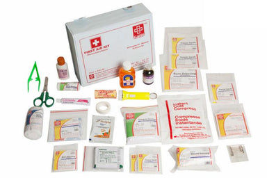 First Aid All purpose Kit Medium - Vinyl Cardboard Box - 73 Components