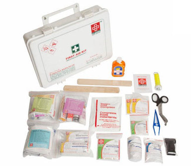 First Aid Workplace Kit  Large- Plastic Box Wall Mounted - 155 Components