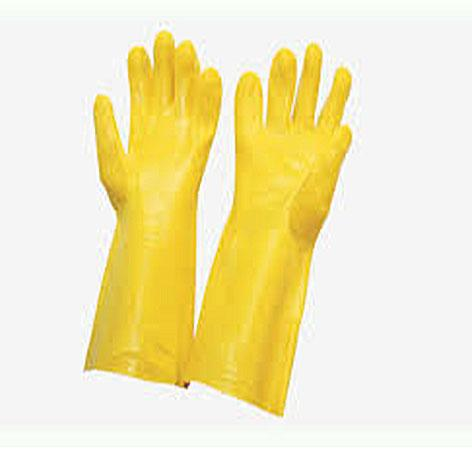 PVC Supported with cotton lining handgloves
