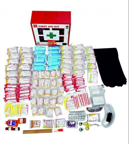 First Aid Industrial Kit Large- Metal Box Wall Mounted with Acrylic Door- 246 components- designed as per Industrial Act