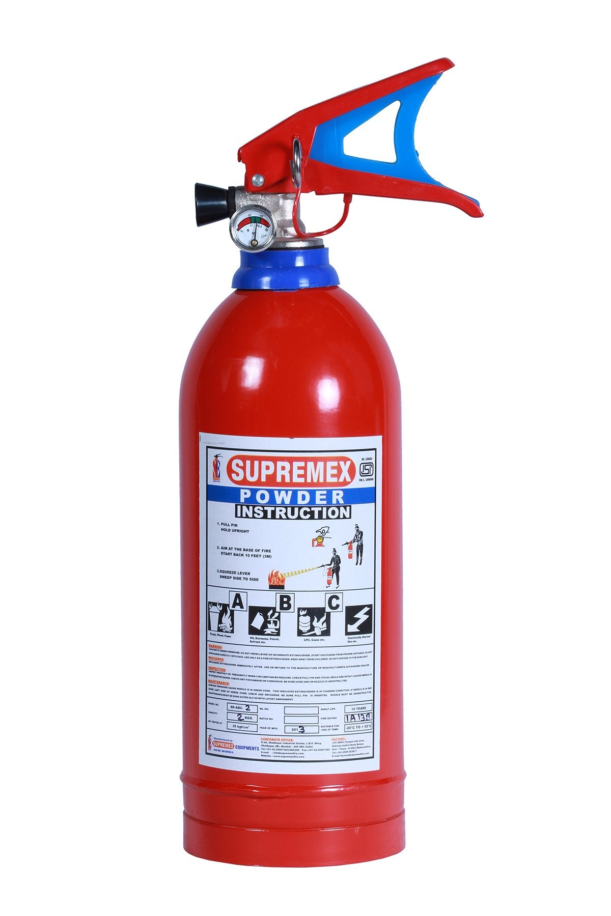 ABC Dry powder Fire extinguisher stored pressure